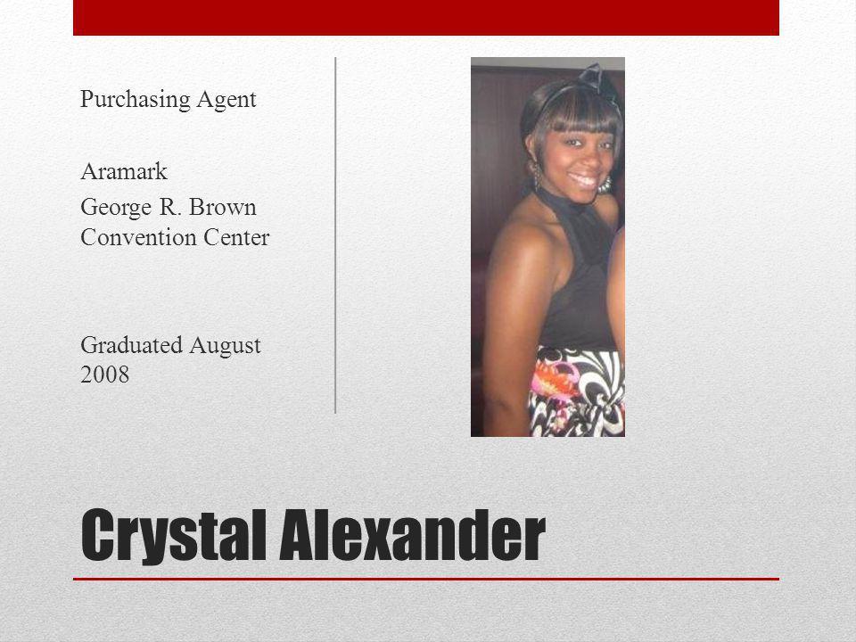 Crystal Alexander Purchasing Agent Aramark