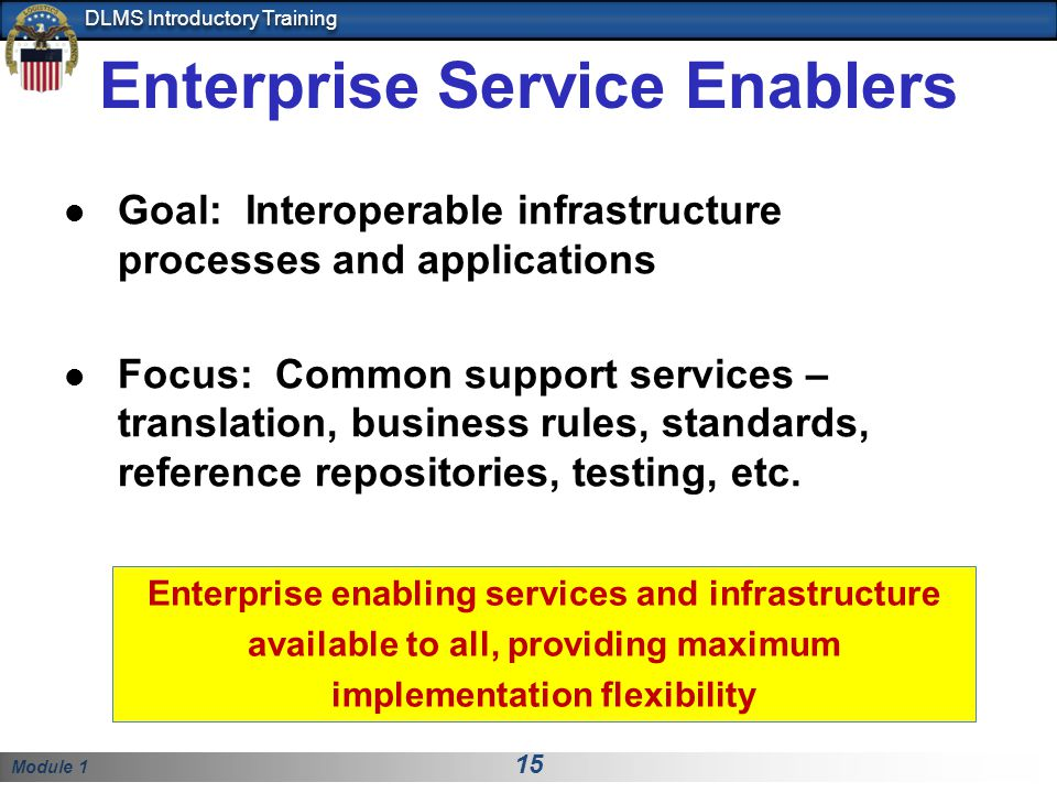 Enterprise Service Enablers