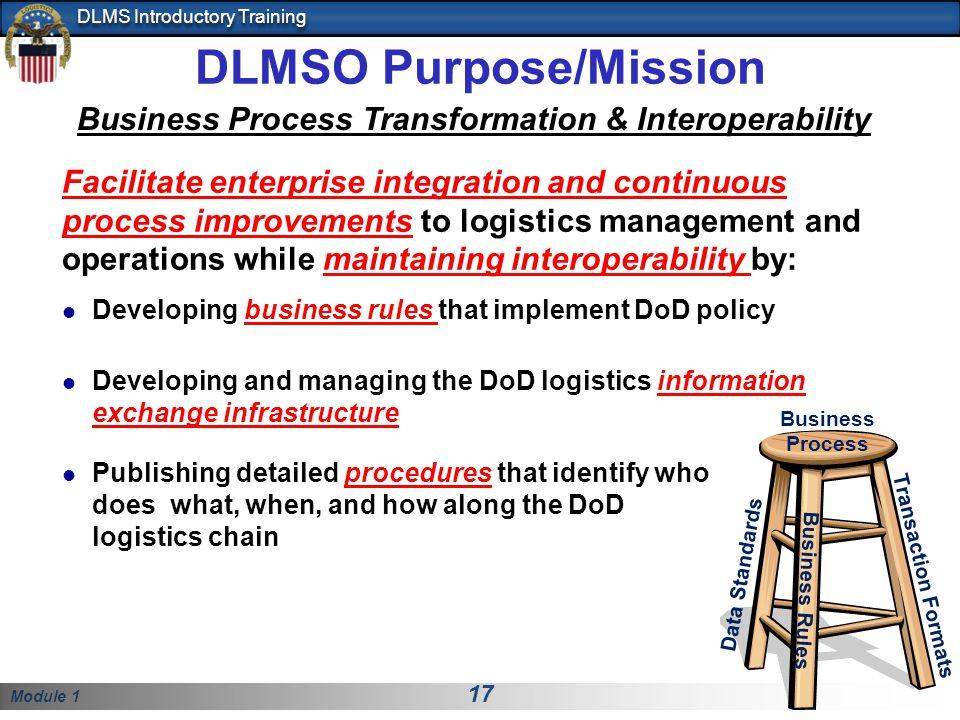 DLMSO Purpose/Mission