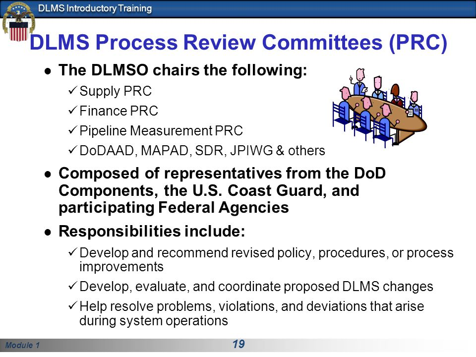 DLMS Process Review Committees (PRC)