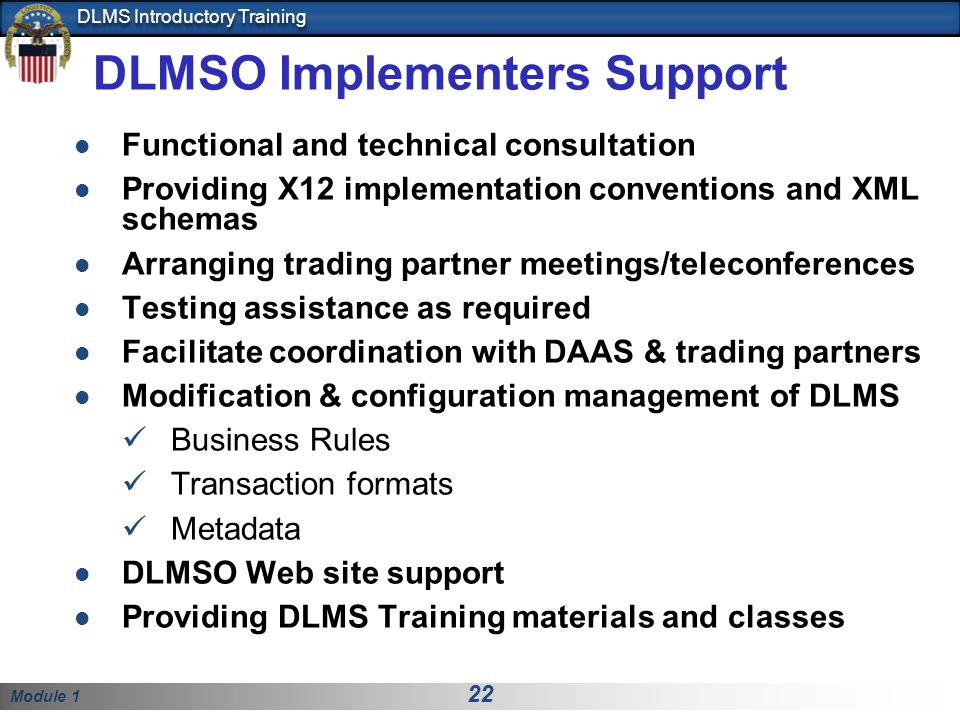 DLMSO Implementers Support