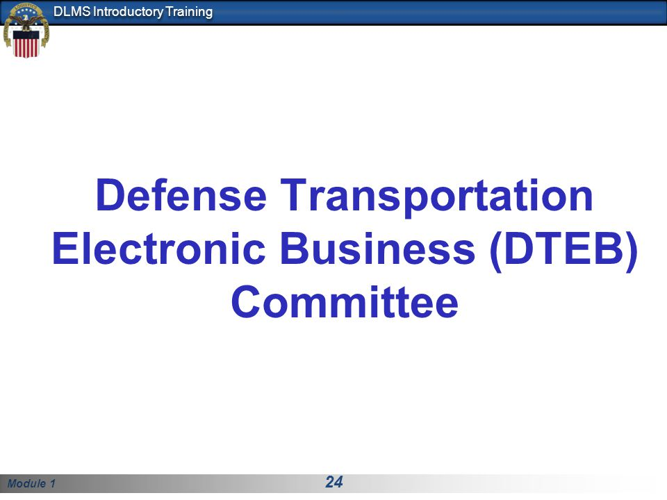 Defense Transportation Electronic Business (DTEB) Committee