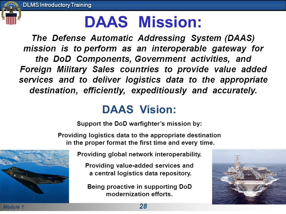 DAAS Mission: DAAS Vision: