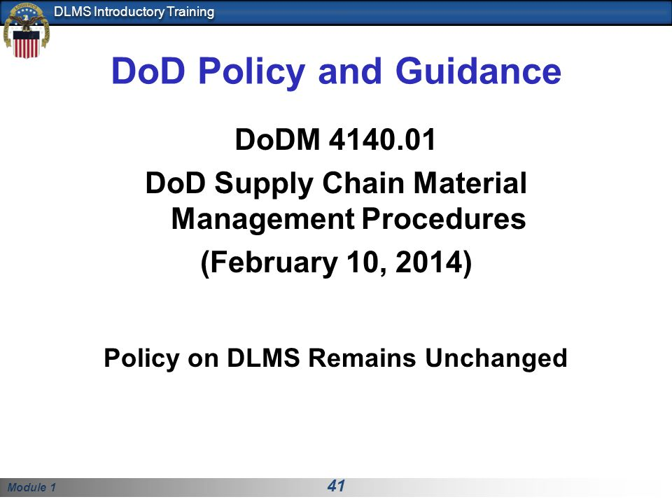 DoD Policy and Guidance
