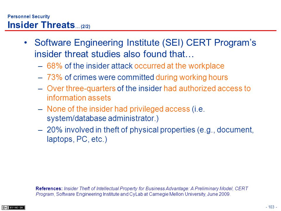 Personnel Security Insider Threats… (2/2)