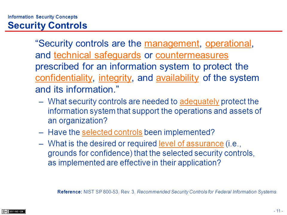 Information Security Concepts Security Controls