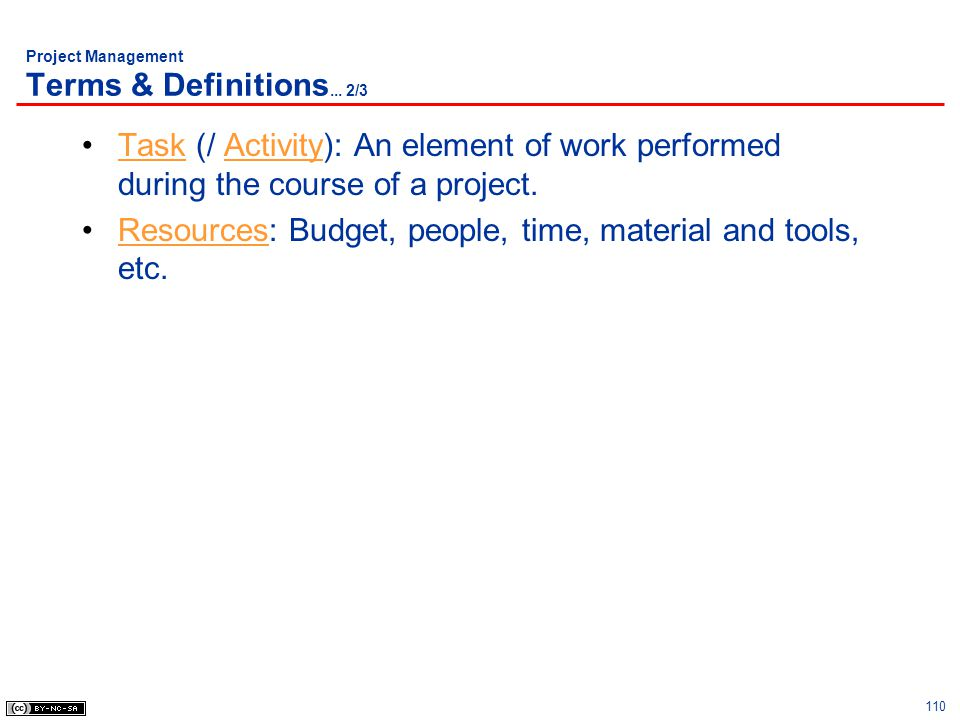 Project Management Terms & Definitions... 2/3