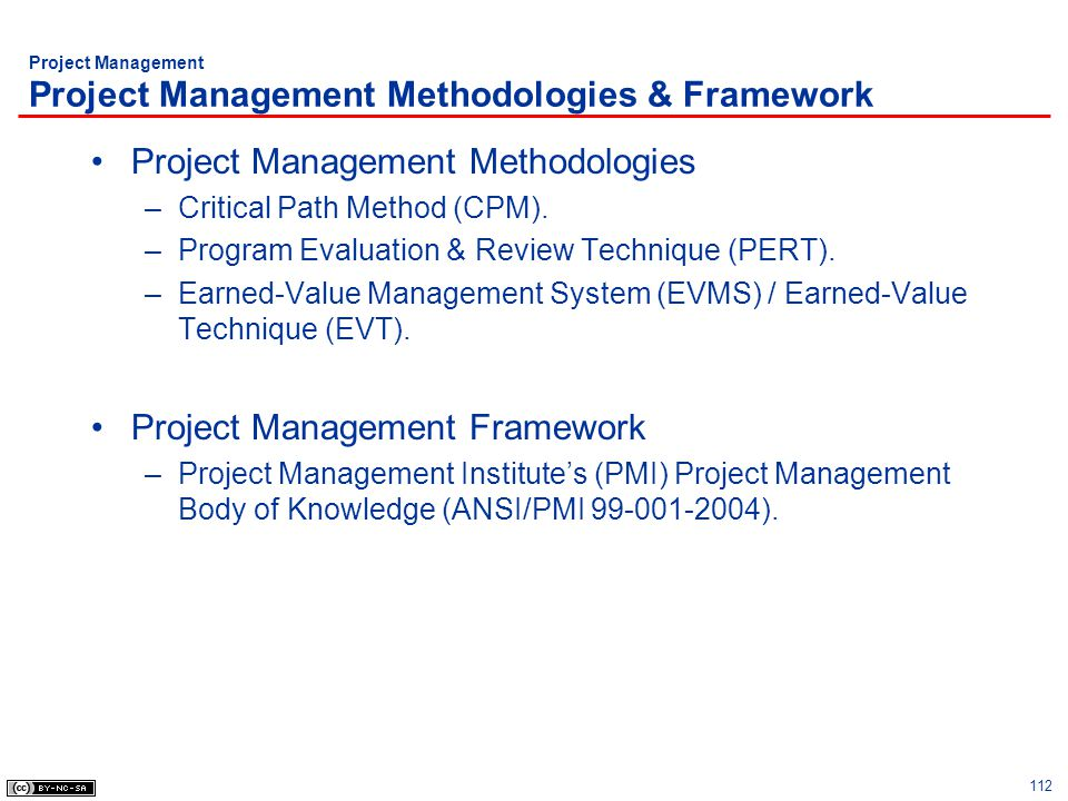 Project Management Project Management Methodologies & Framework