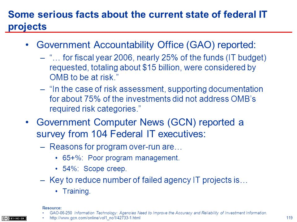 Some serious facts about the current state of federal IT projects