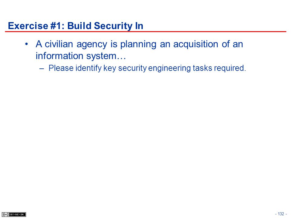 Exercise #1: Build Security In