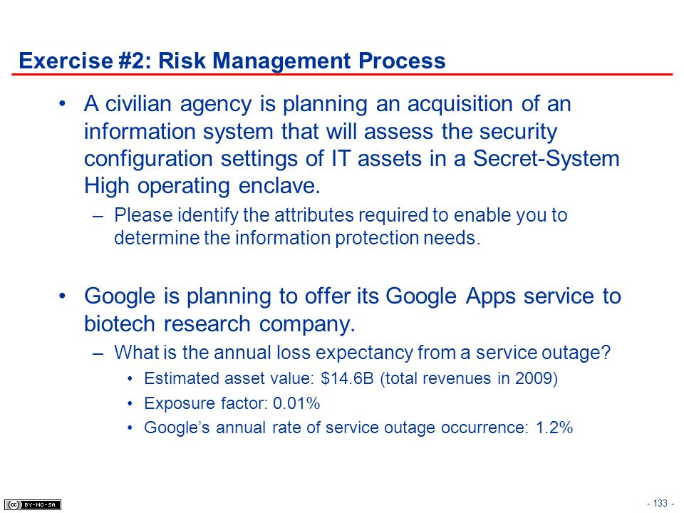Exercise #2: Risk Management Process
