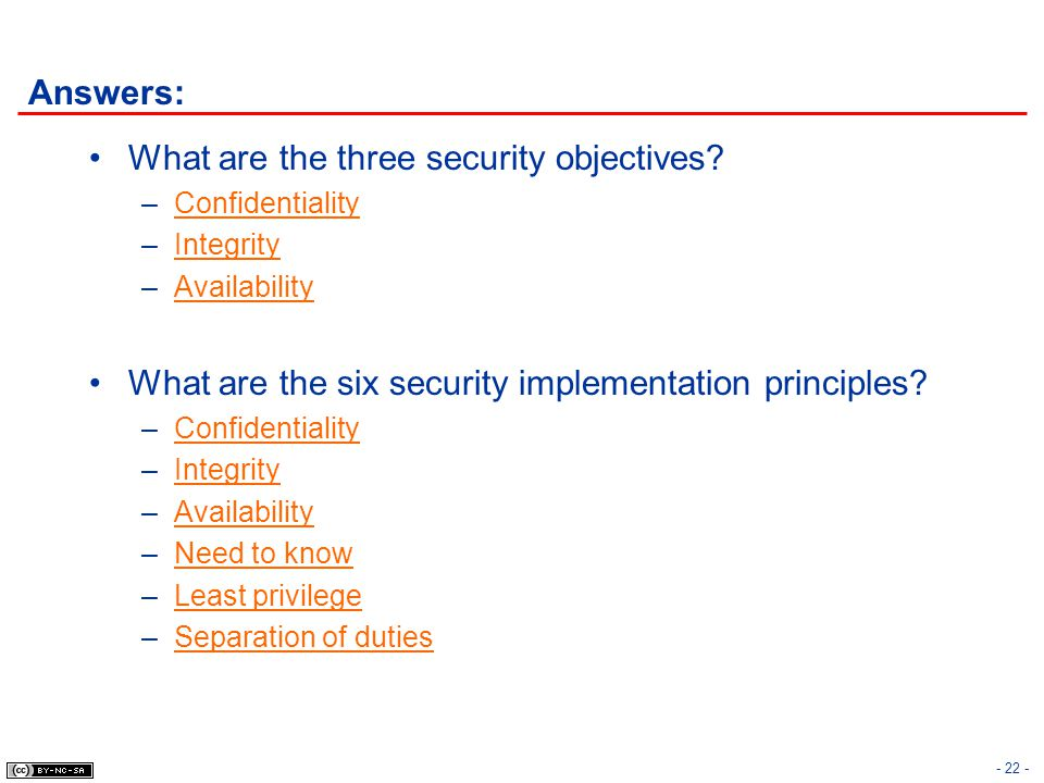 What are the three security objectives