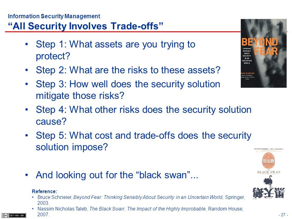 Information Security Management All Security Involves Trade-offs