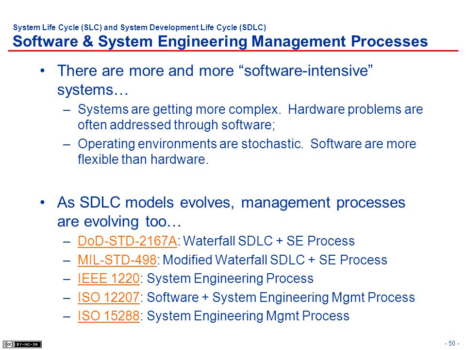There are more and more software-intensive systems…