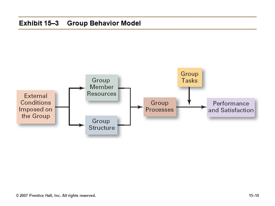 Exhibit 15–3 Group Behavior Model