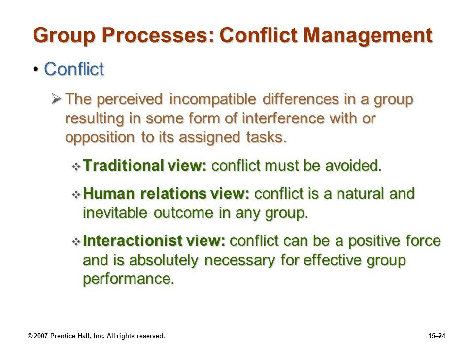 Group Processes: Conflict Management