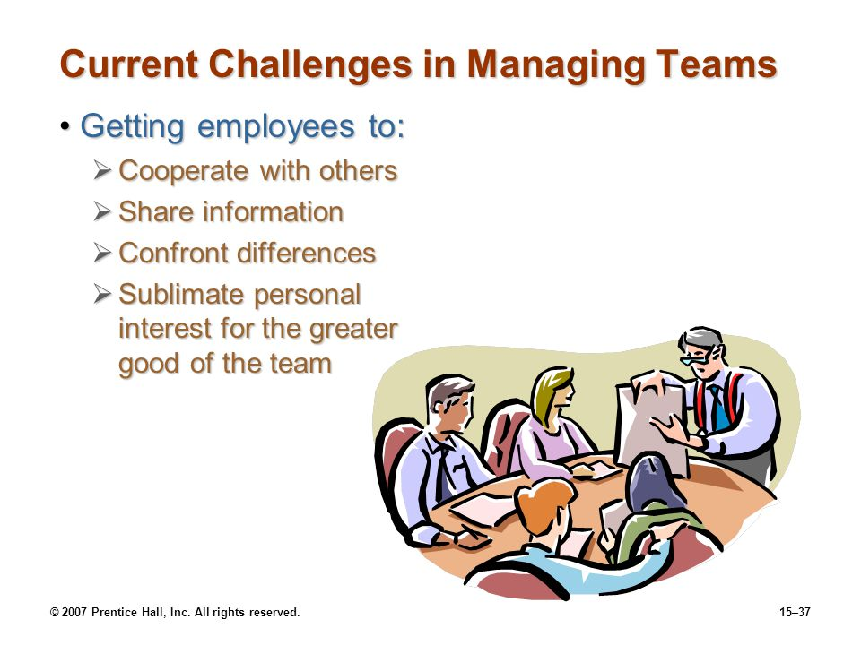 Current Challenges in Managing Teams