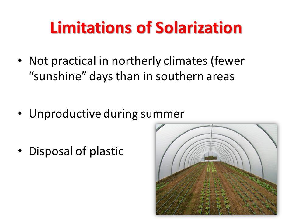 Limitations of Solarization