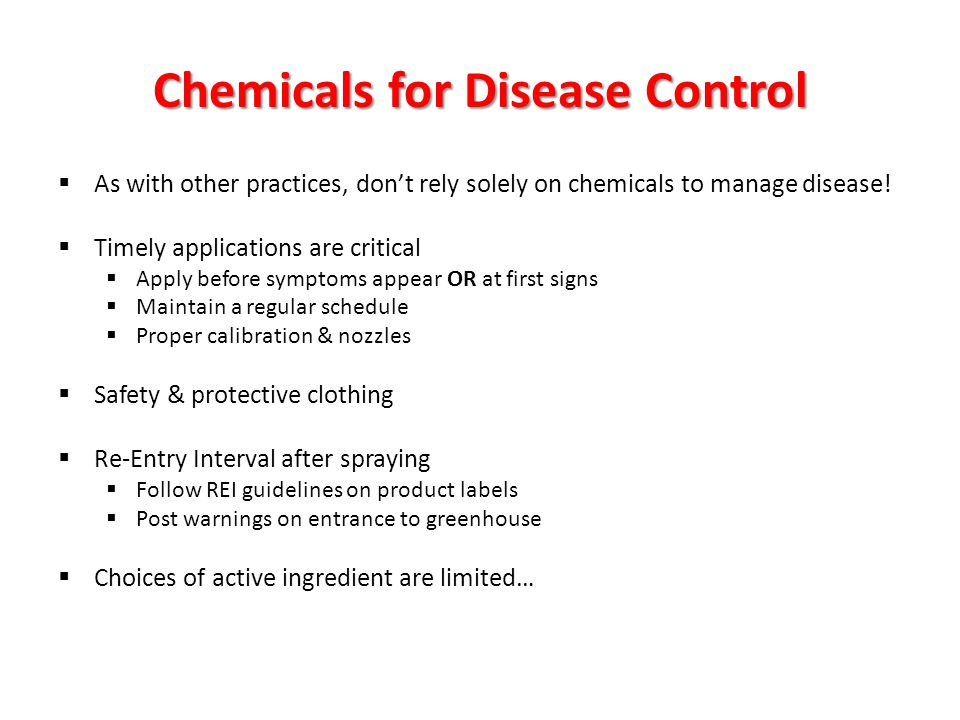 Chemicals for Disease Control
