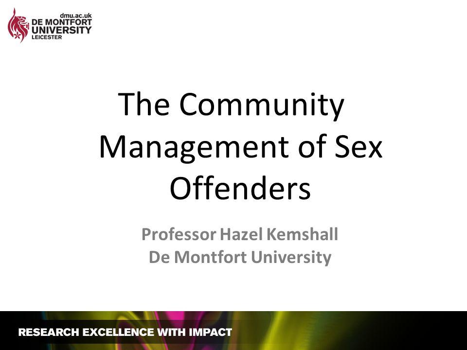 Professor Hazel Kemshall De Montfort University
