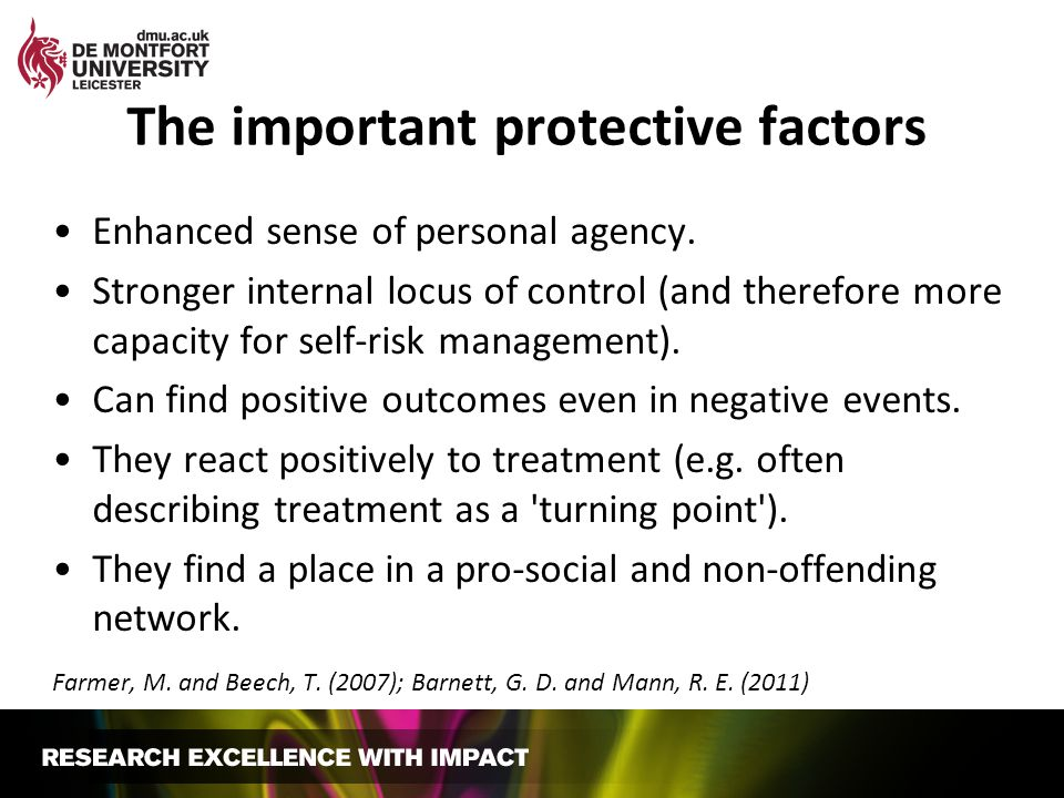 The important protective factors