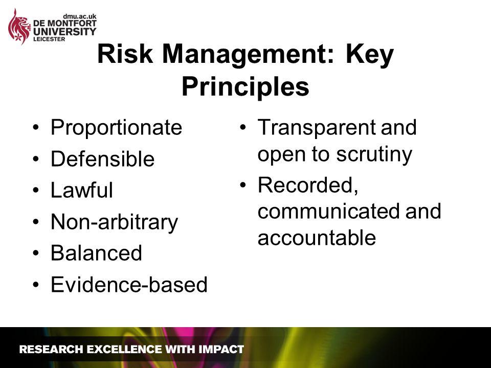 Risk Management: Key Principles
