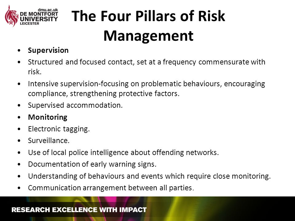 The Four Pillars of Risk Management