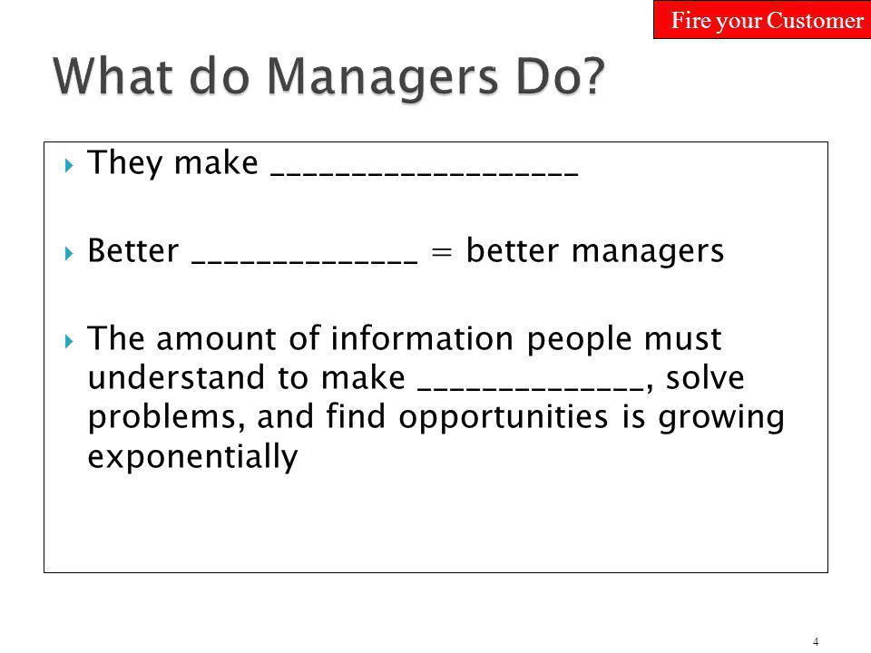 What do Managers Do They make ___________________