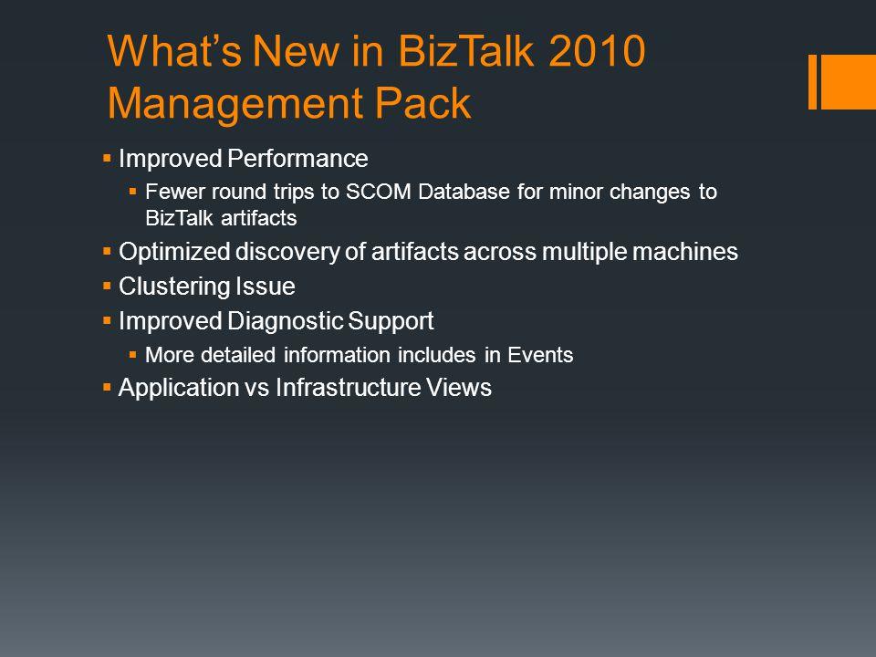What's New in BizTalk 2010 Management Pack