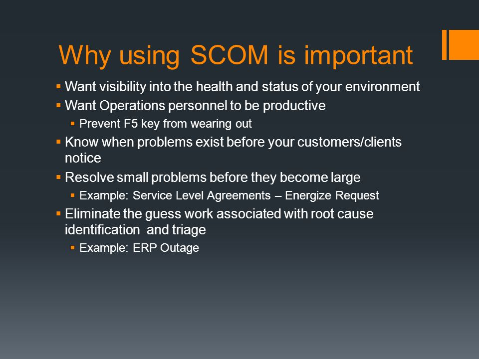 Why using SCOM is important