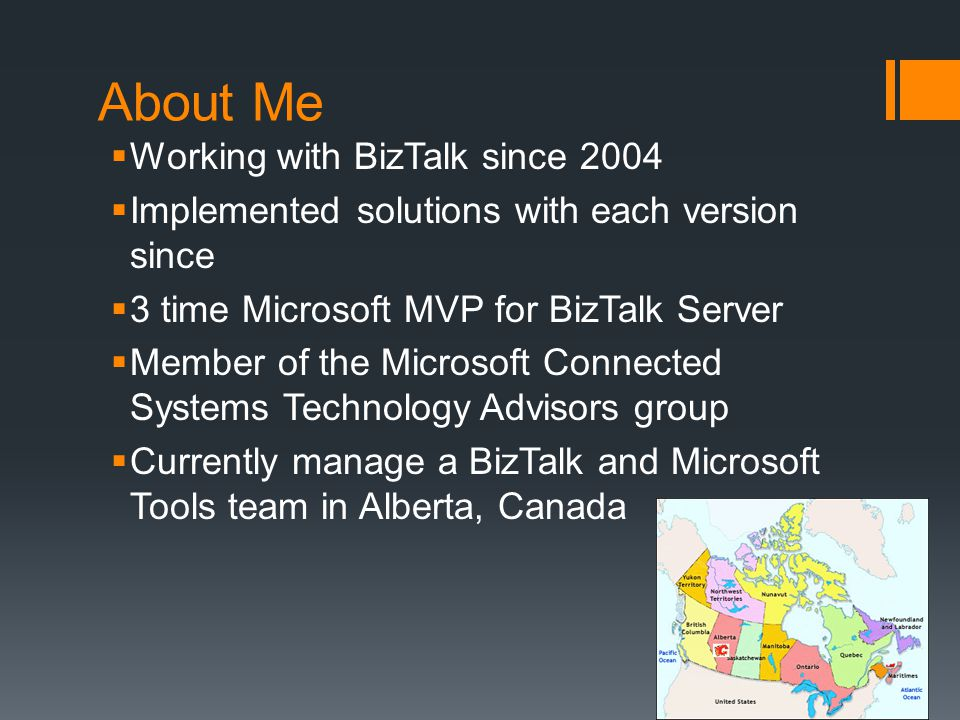About Me Working with BizTalk since 2004