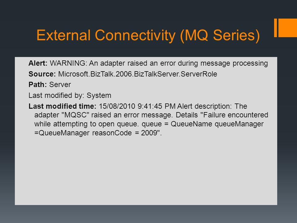 External Connectivity (MQ Series)