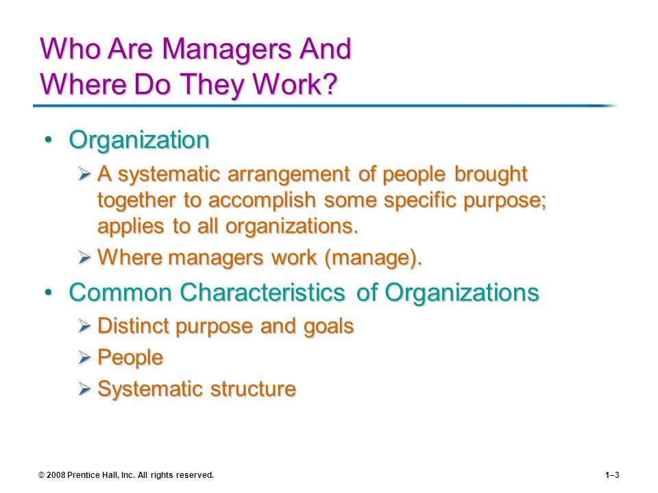 Who Are Managers And Where Do They Work
