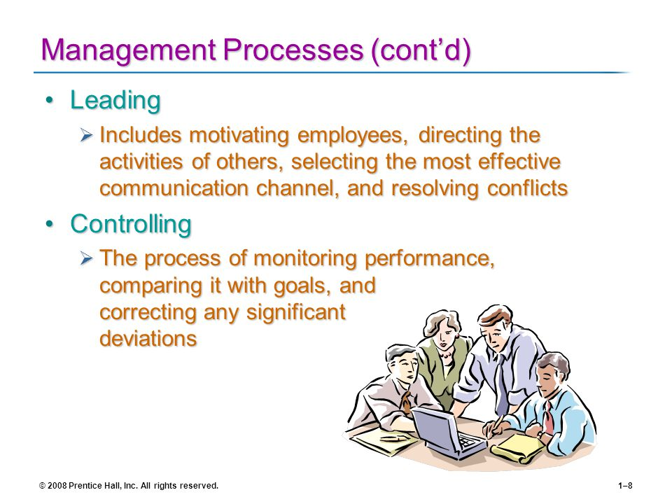 Management Processes (cont'd)