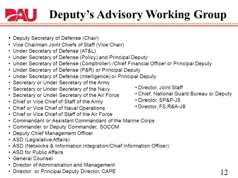 Deputy's Advisory Working Group