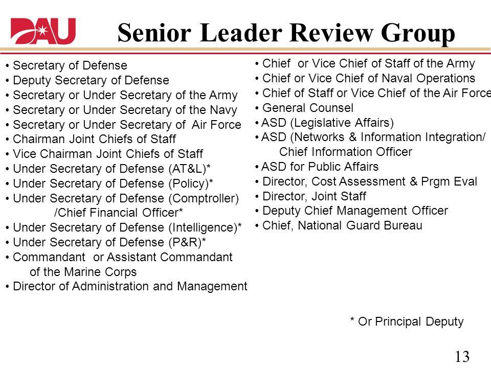 Senior Leader Review Group