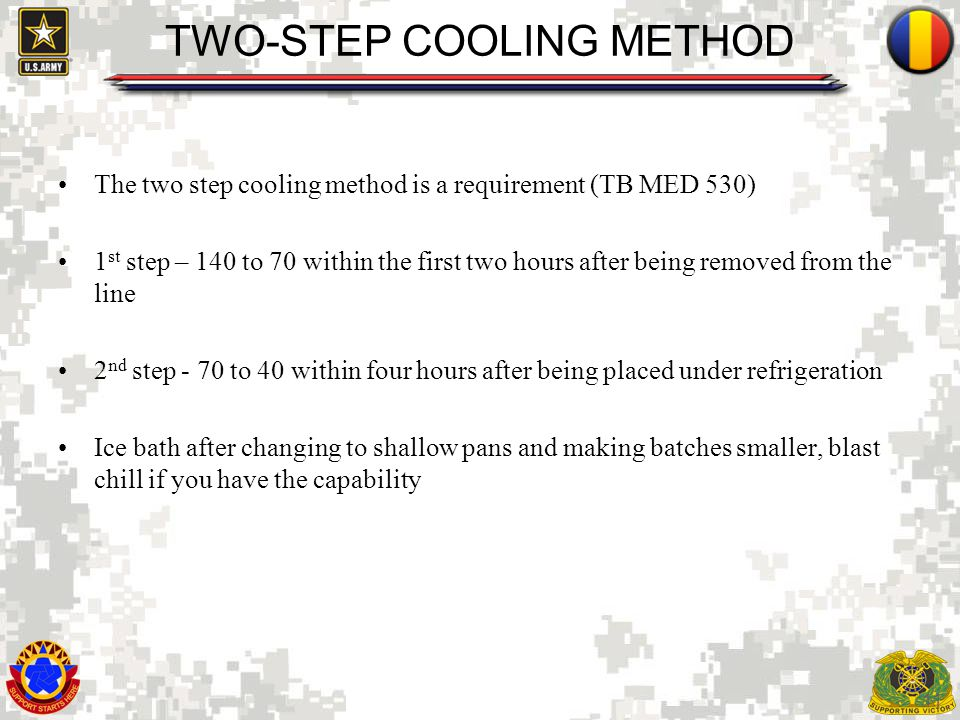 TWO-STEP COOLING METHOD