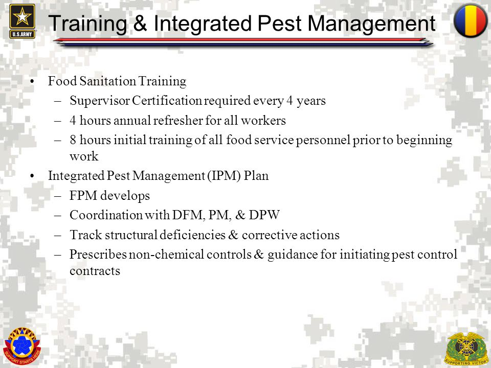 Training & Integrated Pest Management