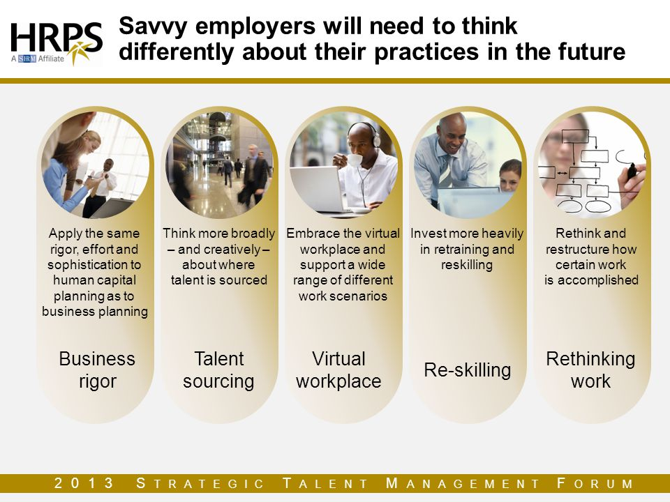 Savvy employers will need to think differently about their practices in the future