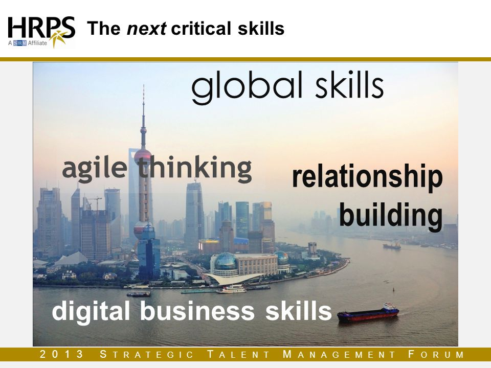 The next critical skills