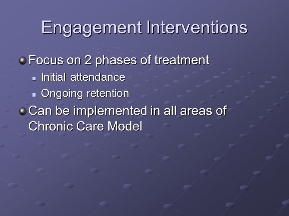 Engagement Interventions