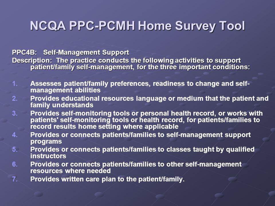 NCQA PPC-PCMH Home Survey Tool