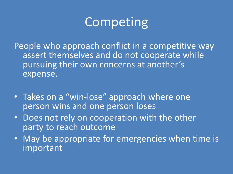 Competing