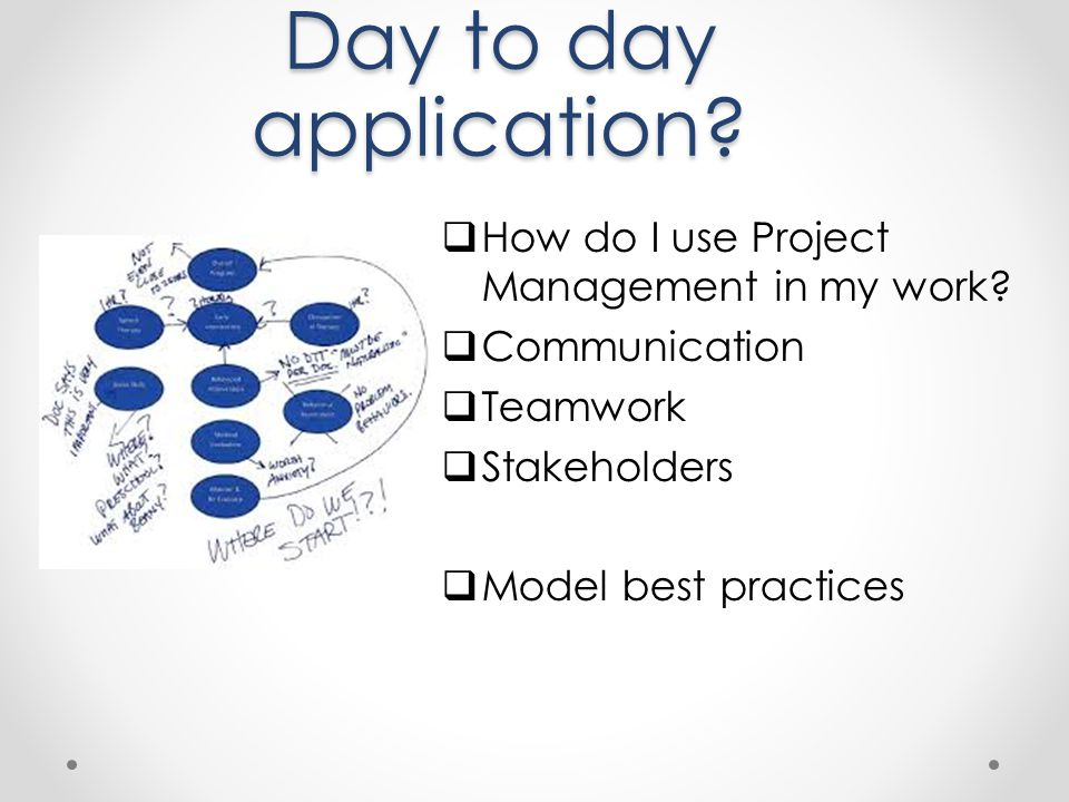Day to day application How do I use Project Management in my work