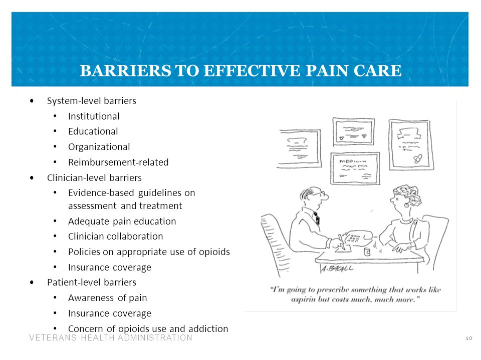 BARRIERS TO EFFECTIVE PAIN CARE