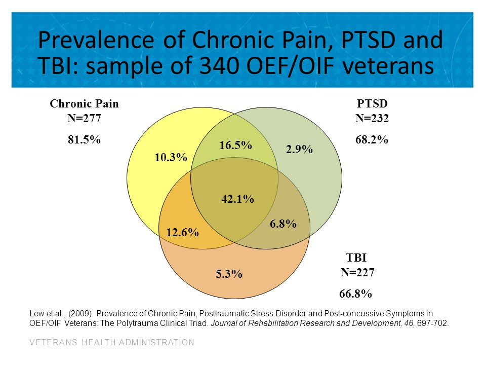 Prevalence of Chronic Pain, PTSD and TBI: sample of 340 OEF/OIF veterans