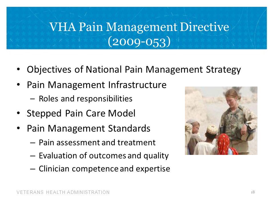 VHA Pain Management Directive (2009-053)