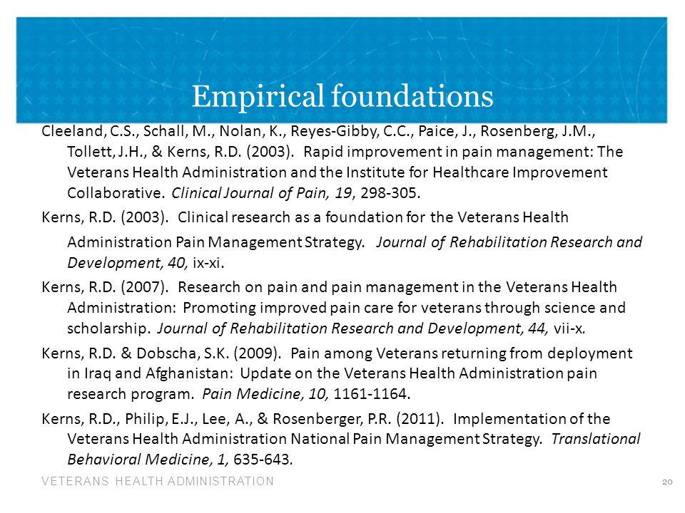 Empirical foundations