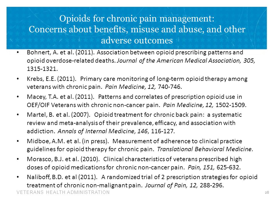 Opioids for chronic pain management: Concerns about benefits, misuse and abuse, and other adverse outcomes