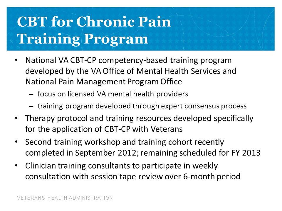 CBT for Chronic Pain Training Program